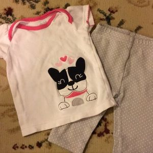 Carter's Dog Top & Polka Dot Pants Outfit